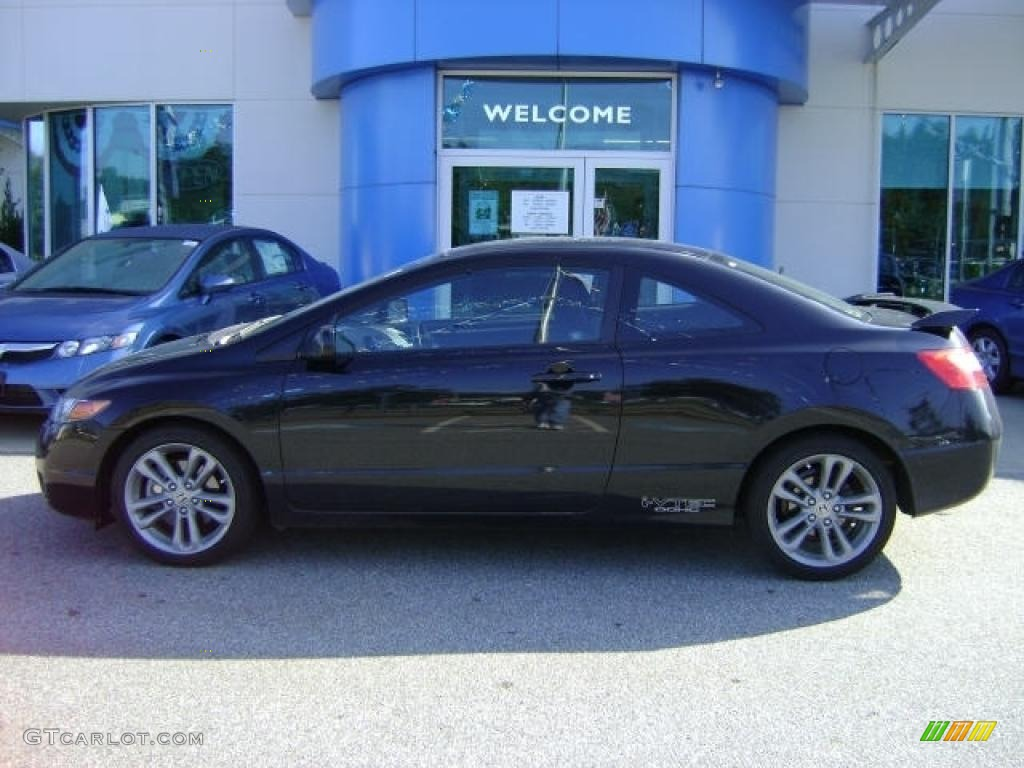 Attractive 2008 Civic Si Coupe   Nighthawk Black Pearl / Black Photo #1