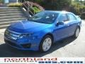 2011 Blue Flame Metallic Ford Fusion SE  photo #2