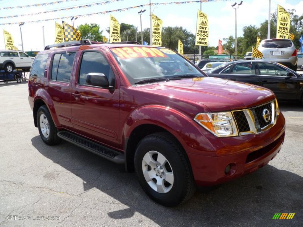 2007 red brawn nissan pathfinder s 36767720 car color galleries. Black Bedroom Furniture Sets. Home Design Ideas
