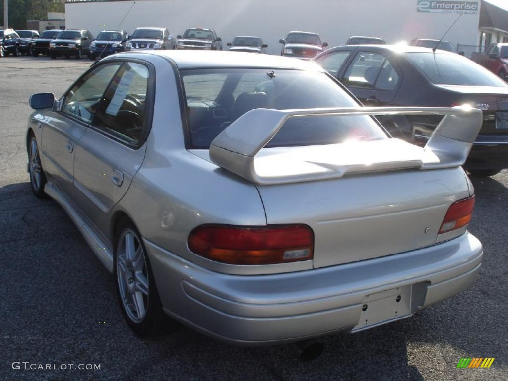 2001 platinum silver metallic subaru impreza 2.5 rs sedan