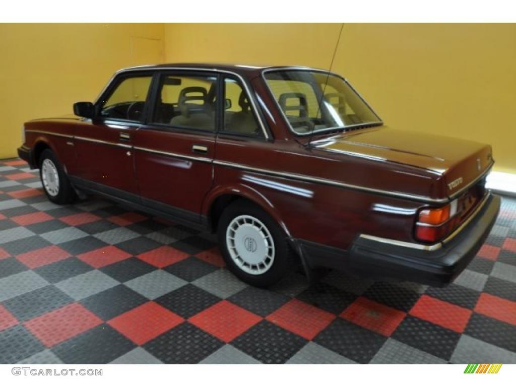 1989 Wine Red Volvo 240 Dl Sedan 36963506 Photo 4 Gtcarlot Com Car Color Galleries