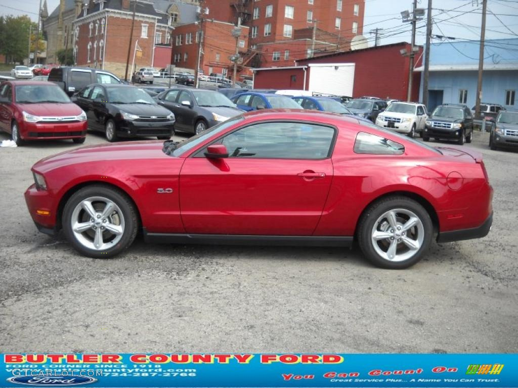 2011 Mustang GT Premium Coupe - Red Candy Metallic / Charcoal Black/Cashmere photo #6