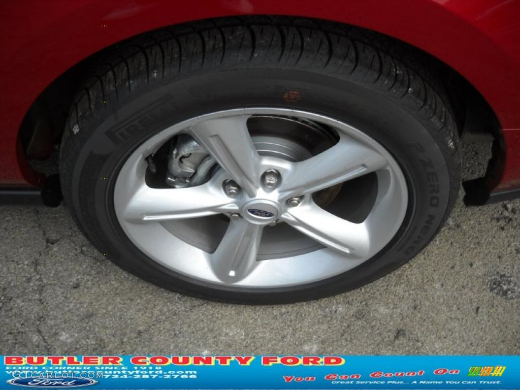 2011 Mustang GT Premium Coupe - Red Candy Metallic / Charcoal Black/Cashmere photo #14