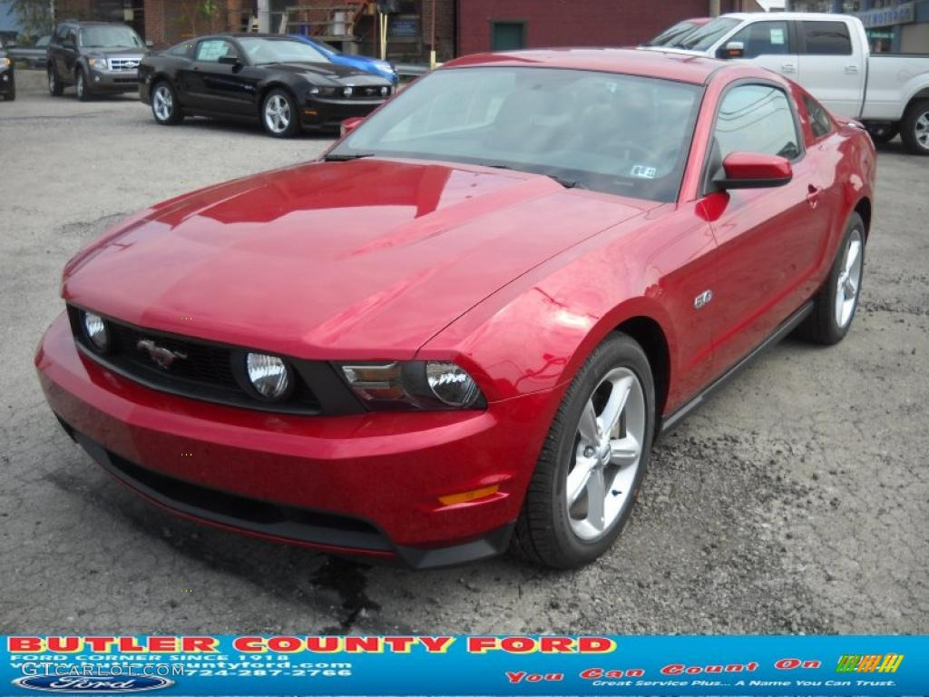 2011 Mustang GT Premium Coupe - Red Candy Metallic / Charcoal Black/Cashmere photo #19
