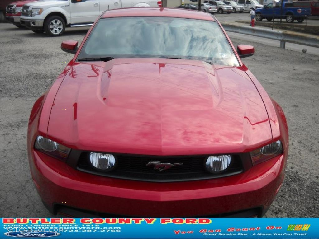 2011 Mustang GT Premium Coupe - Red Candy Metallic / Charcoal Black/Cashmere photo #20