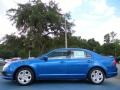 2011 Blue Flame Metallic Ford Fusion SE  photo #2