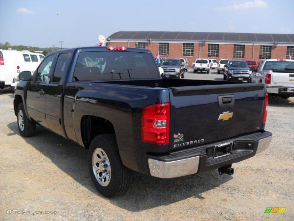 2011 Silverado 1500 LS Extended Cab - Imperial Blue Metallic / Dark Titanium photo #2
