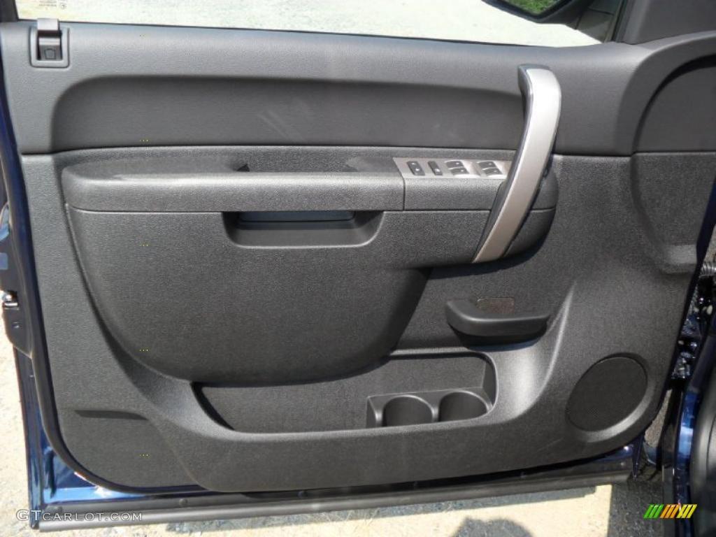 2011 Silverado 1500 LS Extended Cab - Imperial Blue Metallic / Dark Titanium photo #9