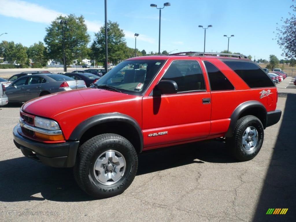 2004 Victory Red Chevrolet Blazer Ls Zr2 4x4  37033150 Photo  2