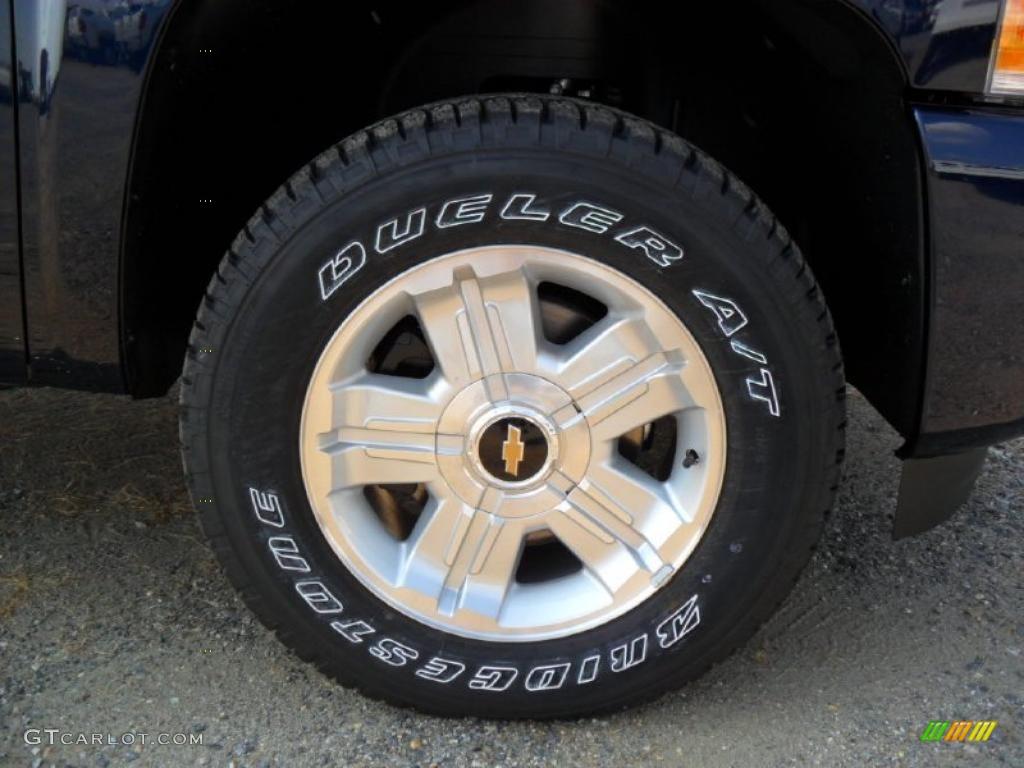 2011 Silverado 1500 LT Extended Cab 4x4 - Imperial Blue Metallic / Ebony photo #22