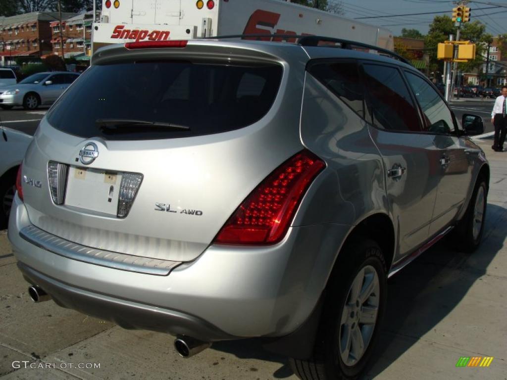 2007 Murano SL AWD - Brilliant Silver Metallic / Charcoal photo #4