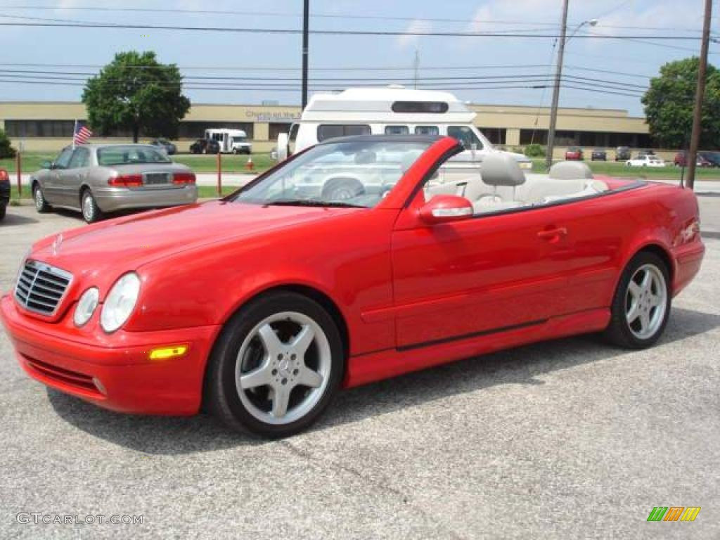 2002 magma red mercedes benz clk 430 cabriolet 3708321 for Mercedes benz clk 2002