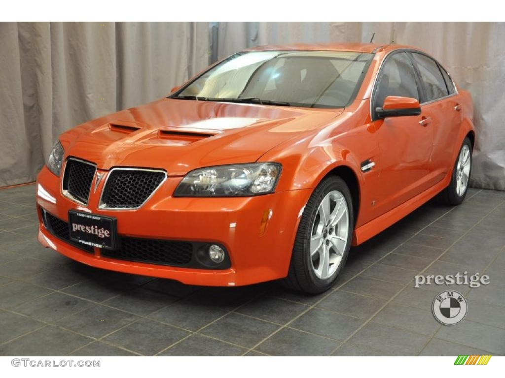 2008 Ignition Orange Metallic Pontiac G8 Gt 37174988