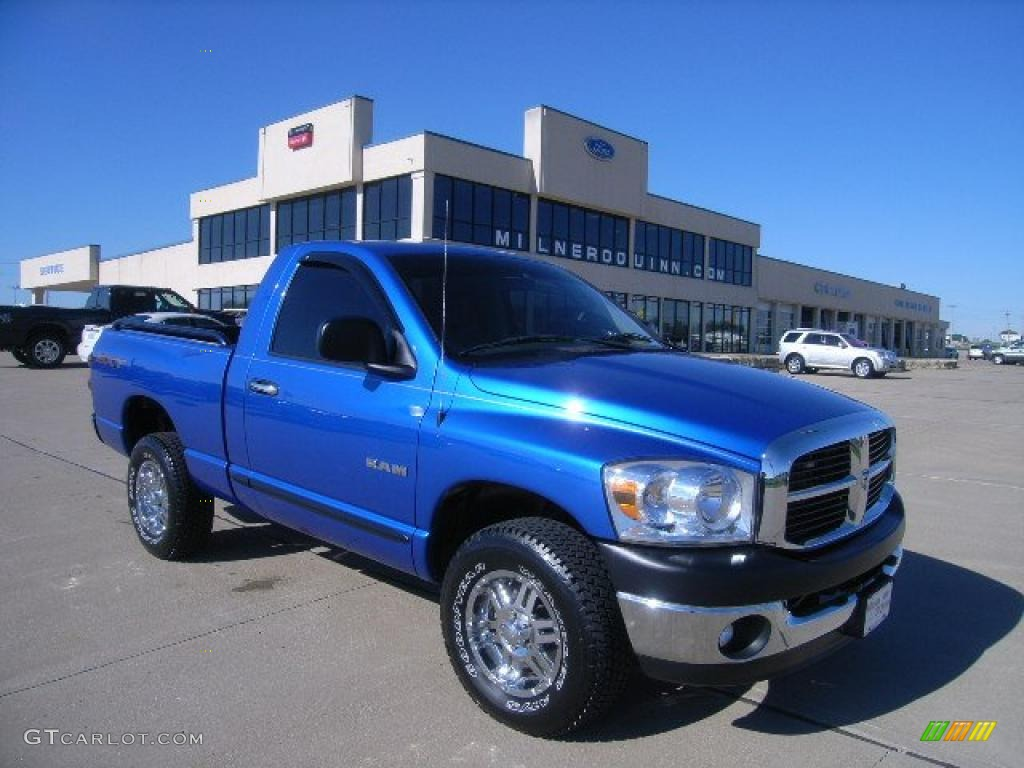 2008 electric blue pearl dodge ram 1500 sxt regular cab 4x4 37175599 car color. Black Bedroom Furniture Sets. Home Design Ideas
