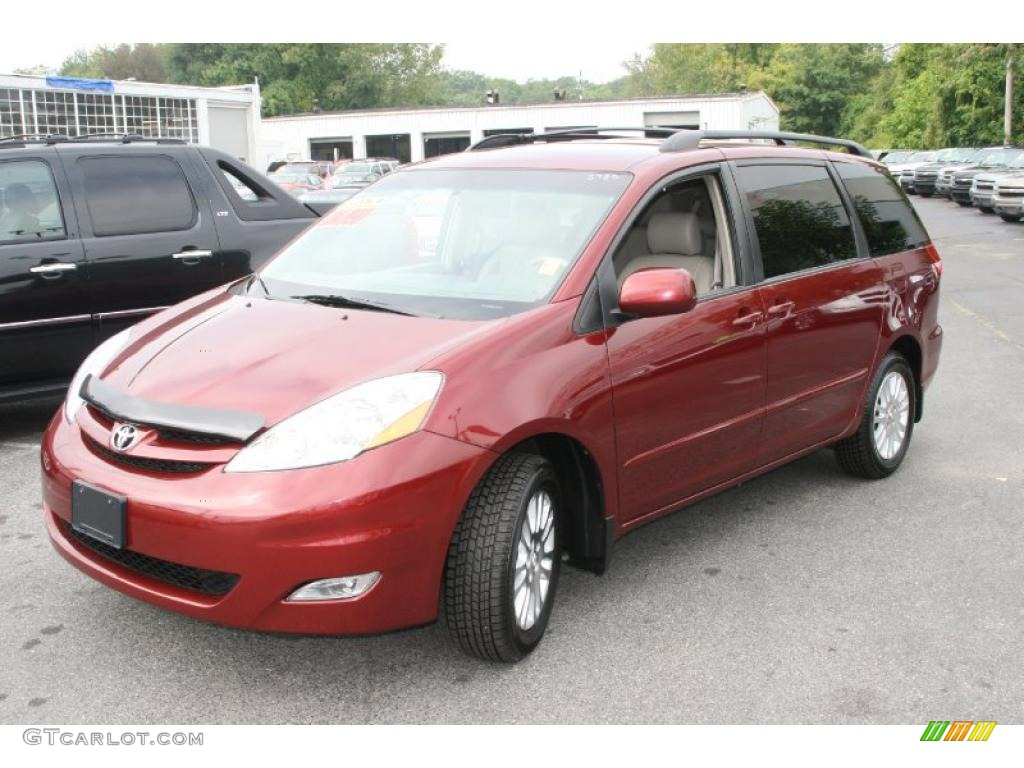2007 sienna xle limited awd salsa red pearl stone photo 1