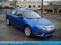 2011 Blue Flame Metallic Ford Fusion SEL V6 AWD  photo #1