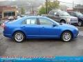 2011 Blue Flame Metallic Ford Fusion SEL V6 AWD  photo #2