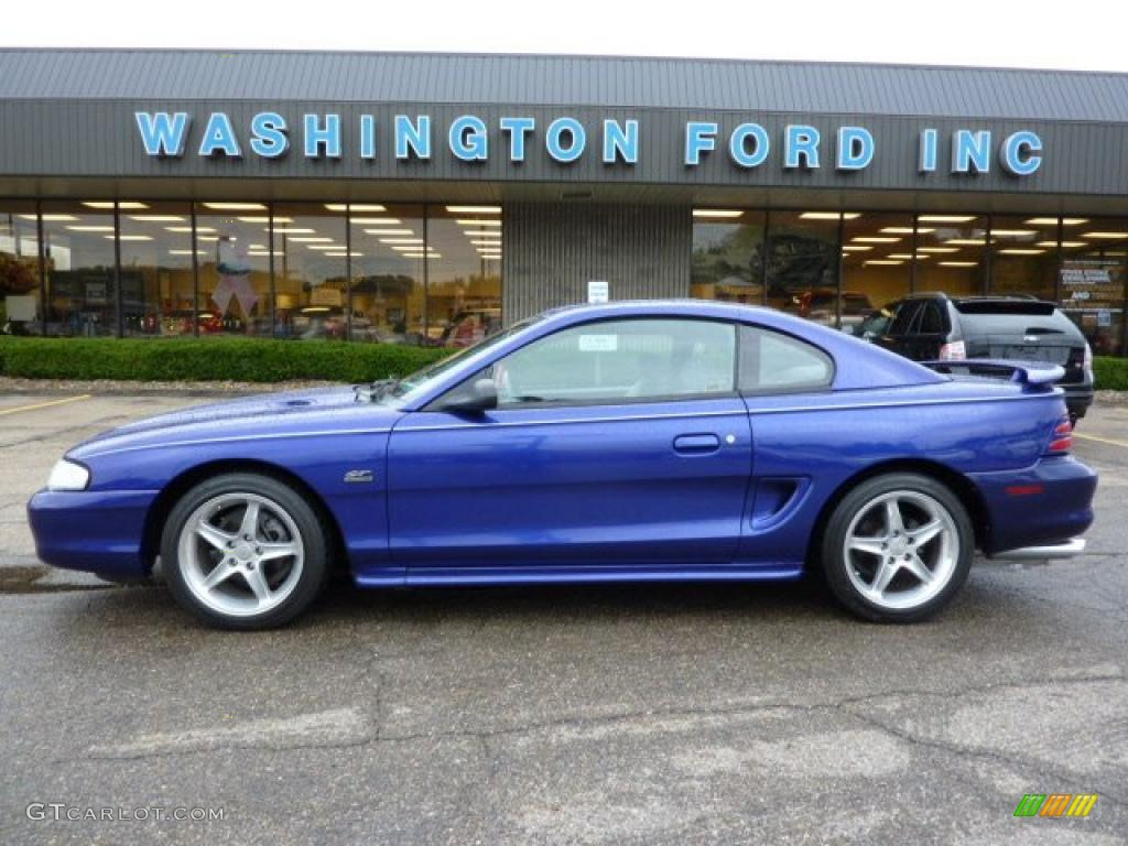 Sapphire blue metallic ford mustang ford mustang gt coupe