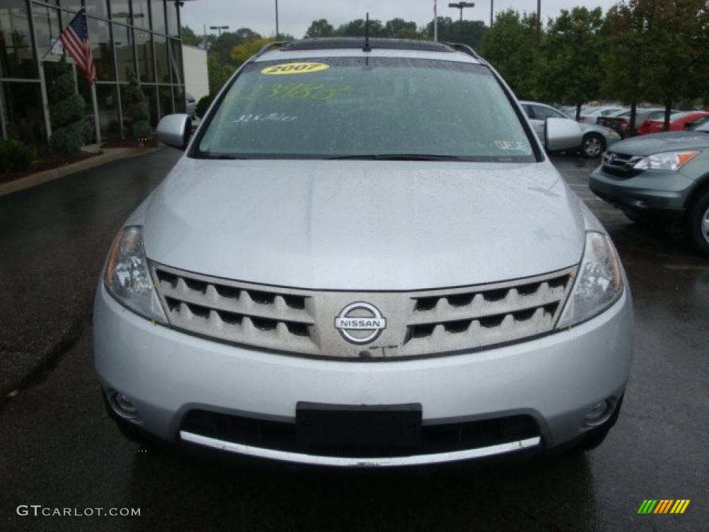2007 Murano SL AWD - Brilliant Silver Metallic / Charcoal photo #6