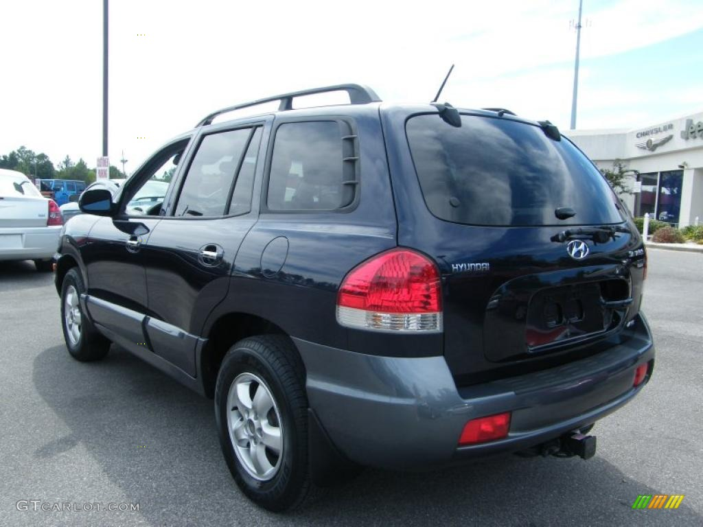 2005 moonlit blue hyundai santa fe lx 3 5 4wd 37282579 photo 3 car color. Black Bedroom Furniture Sets. Home Design Ideas