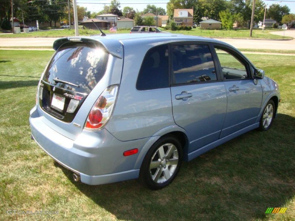 2005 ice blue metallic suzuki aerio sx awd sport wagon. Black Bedroom Furniture Sets. Home Design Ideas