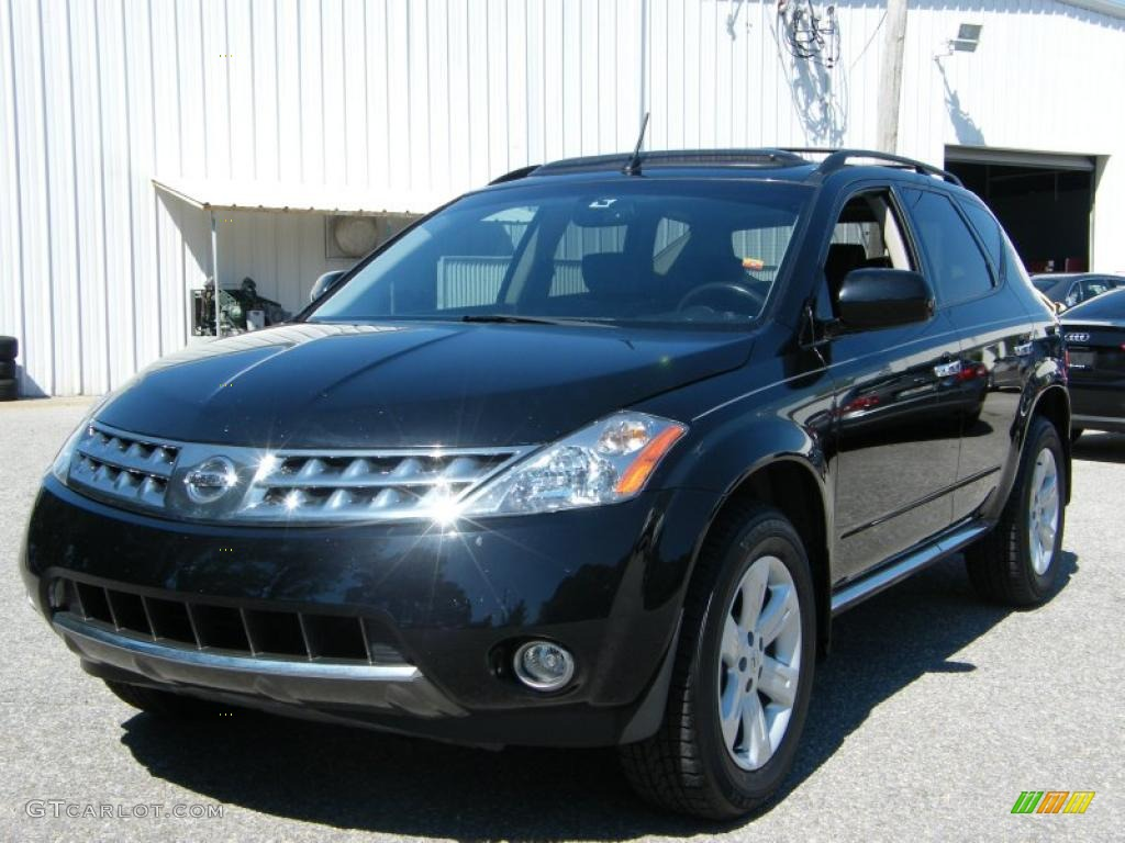 2006 Murano SL - Super Black / Charcoal photo #1