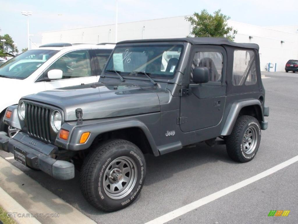1999 gunmetal pearlcoat jeep wrangler sport 4x4 37322571. Black Bedroom Furniture Sets. Home Design Ideas