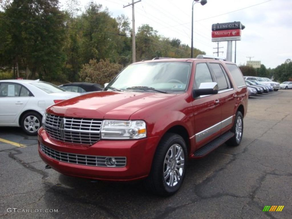 2007 Navigator Ultimate 4x4 - Vivid Red Metallic / Stone photo #1