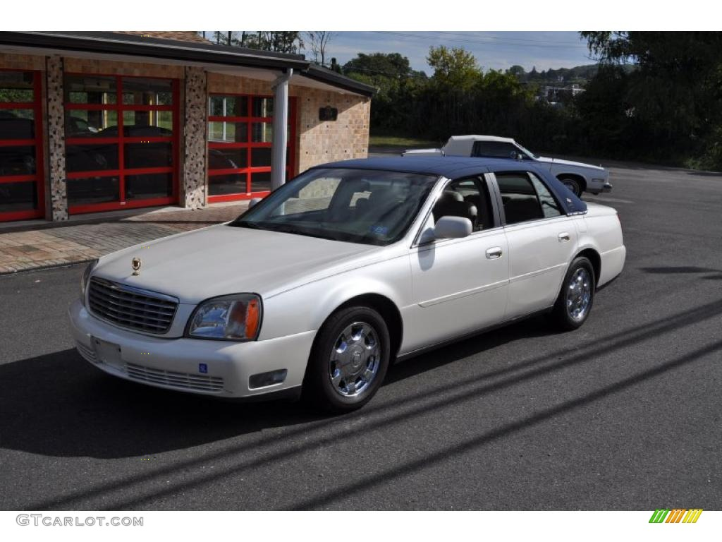 2002 White Diamond Pearl Cadillac DeVille Sedan #37322777 | GTCarLot.com - Car Color Galleries