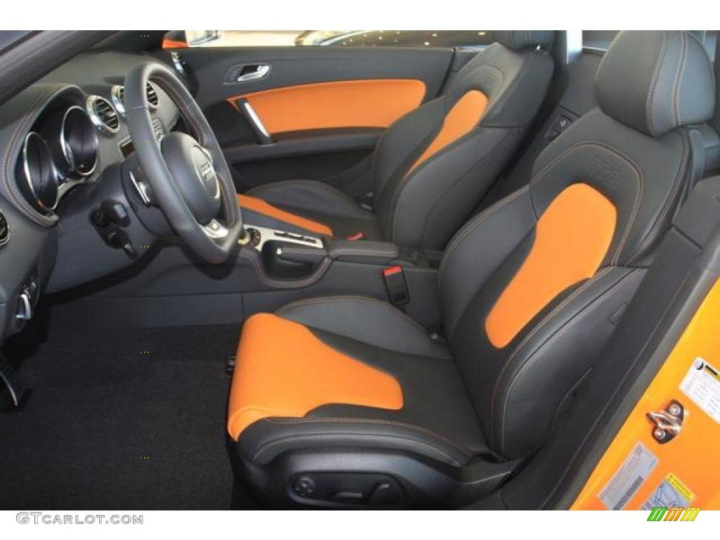 black orange interior 2011 audi tt s 2 0t quattro roadster photo 37400074. Black Bedroom Furniture Sets. Home Design Ideas
