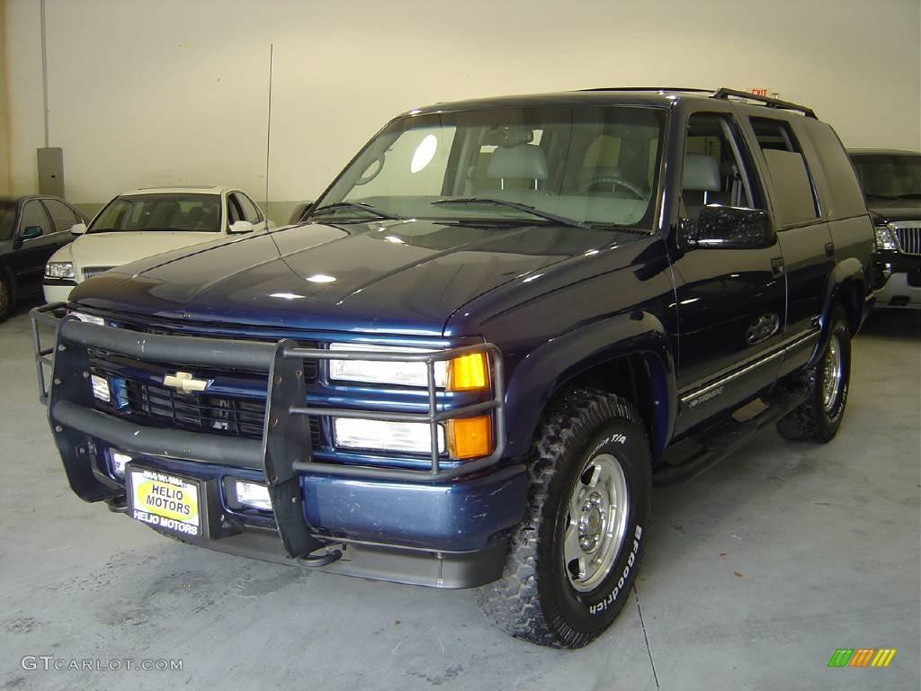 2000 Indigo Blue Metallic Chevrolet Tahoe Z71 4x4 354252