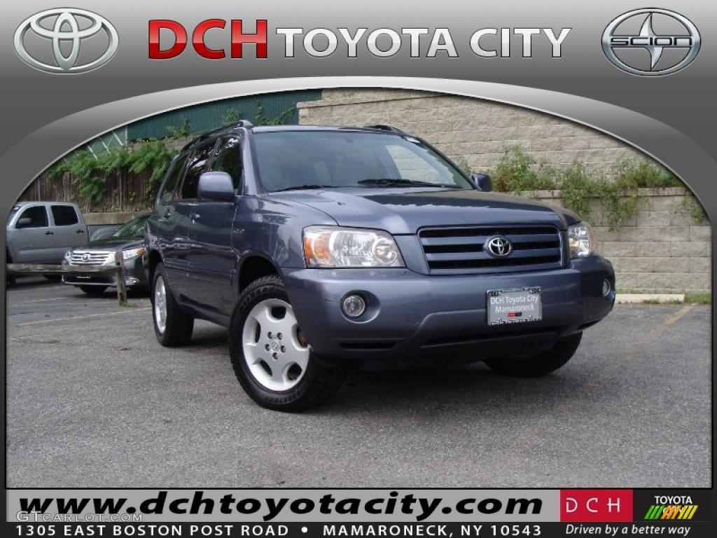 2004 Bluestone Metallic Toyota Highlander Limited V6 4wd 37322870 Car Color