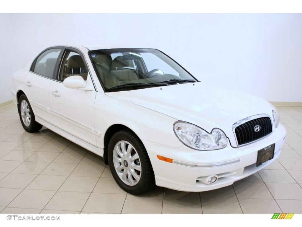 2003 white pearl hyundai sonata lx v6 37322426 gtcarlot. Black Bedroom Furniture Sets. Home Design Ideas