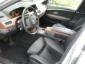Black/Black 2004 BMW 7 Series 745i Sedan Interior Color