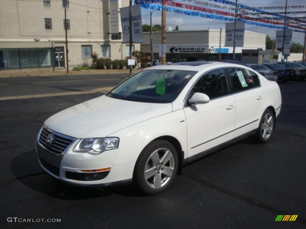2007 candy white volkswagen passat 2 0t wolfsburg edition sedan 37321727 car. Black Bedroom Furniture Sets. Home Design Ideas