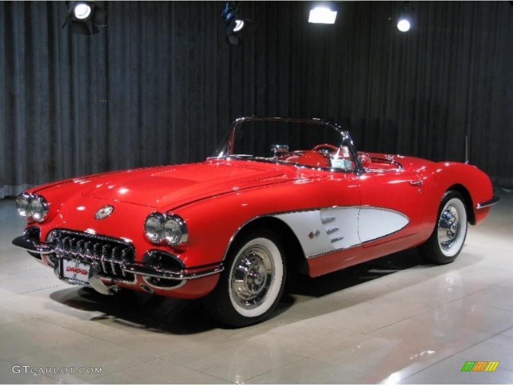1958 Signet Red Chevrolet Corvette Convertible 37423389