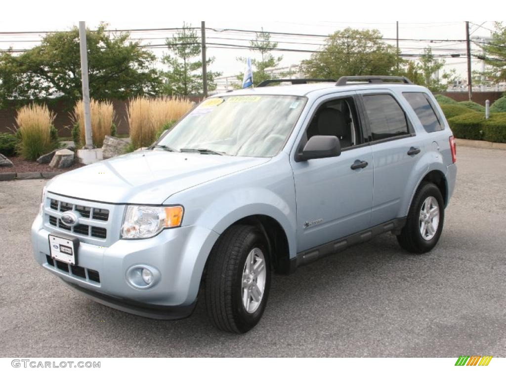 2009 Escape Hybrid 4WD - Light Ice Blue Metallic / Stone photo #1
