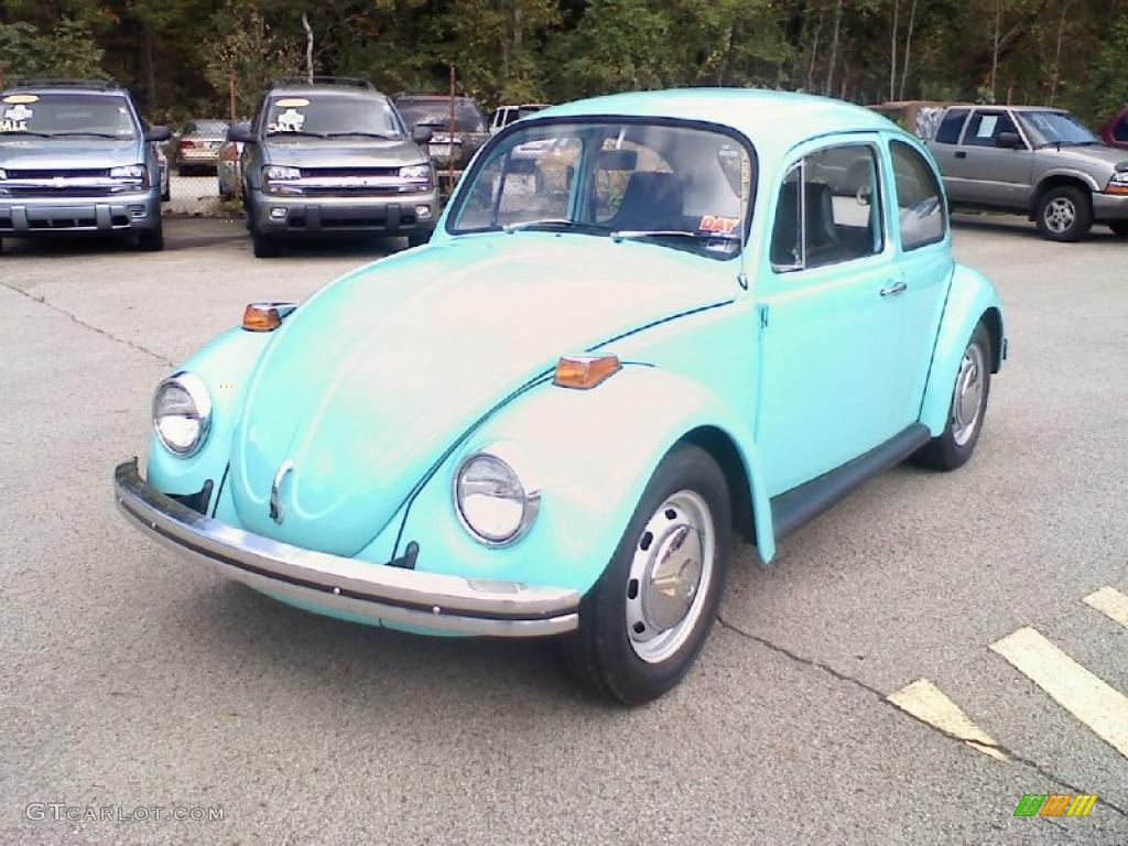 Light Blue Volkswagen Beetle Coupe