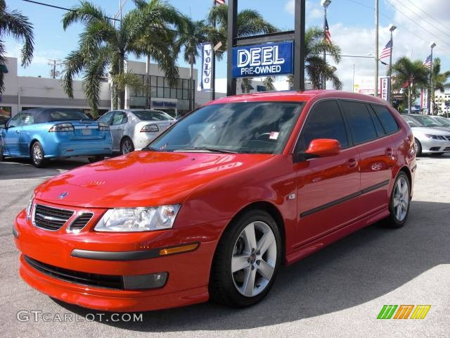 2006 laser red saab 9 3 aero sportcombi wagon 353869. Black Bedroom Furniture Sets. Home Design Ideas