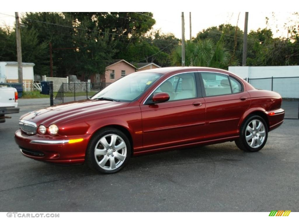 2004 Radiance Red Metallic Jaguar X