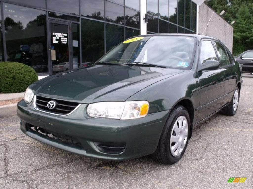 2001 Woodland Green Pearl Toyota Corolla Le 37493238 Car Color Galleries
