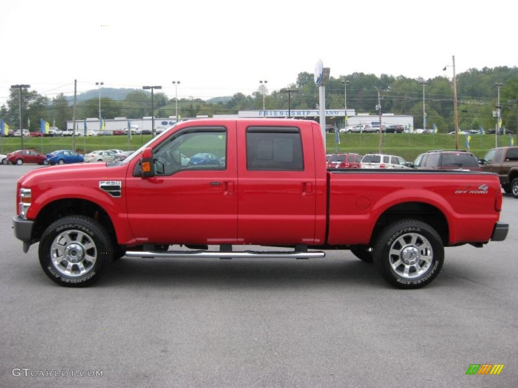 2009 F250 Super Duty FX4 Crew Cab 4x4 - Red / FX4 Black photo #1