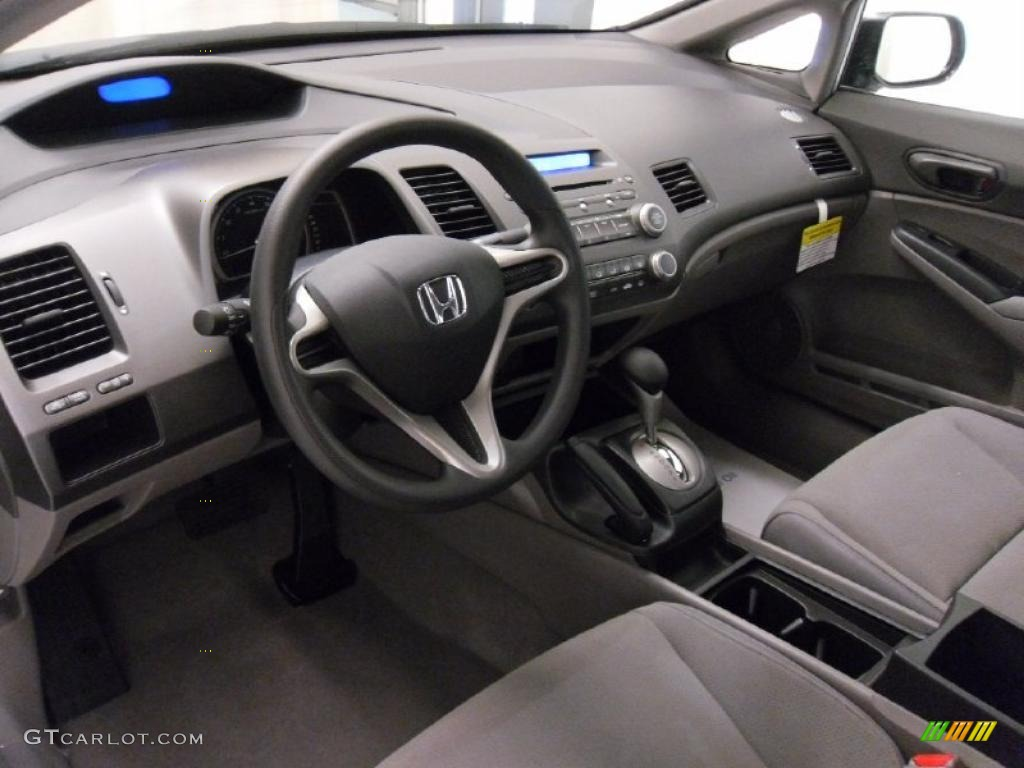 Gray Interior 2010 Honda Civic Dx Vp Sedan Photo 37537420