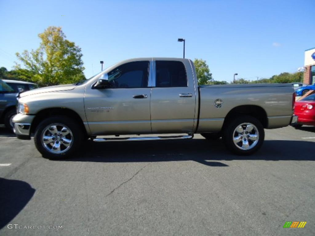 2005 Ram 1500 SLT Quad Cab 4x4 - Light Almond Pearl / Taupe photo #2