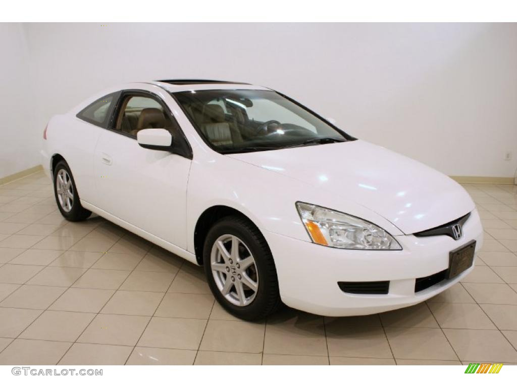 2003 Taffeta White Honda Accord Ex V6 Coupe 37532211