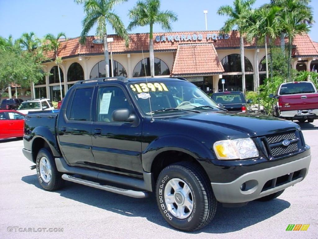2003 Black Ford Explorer Sport Trac XLT 37584643 Car Color