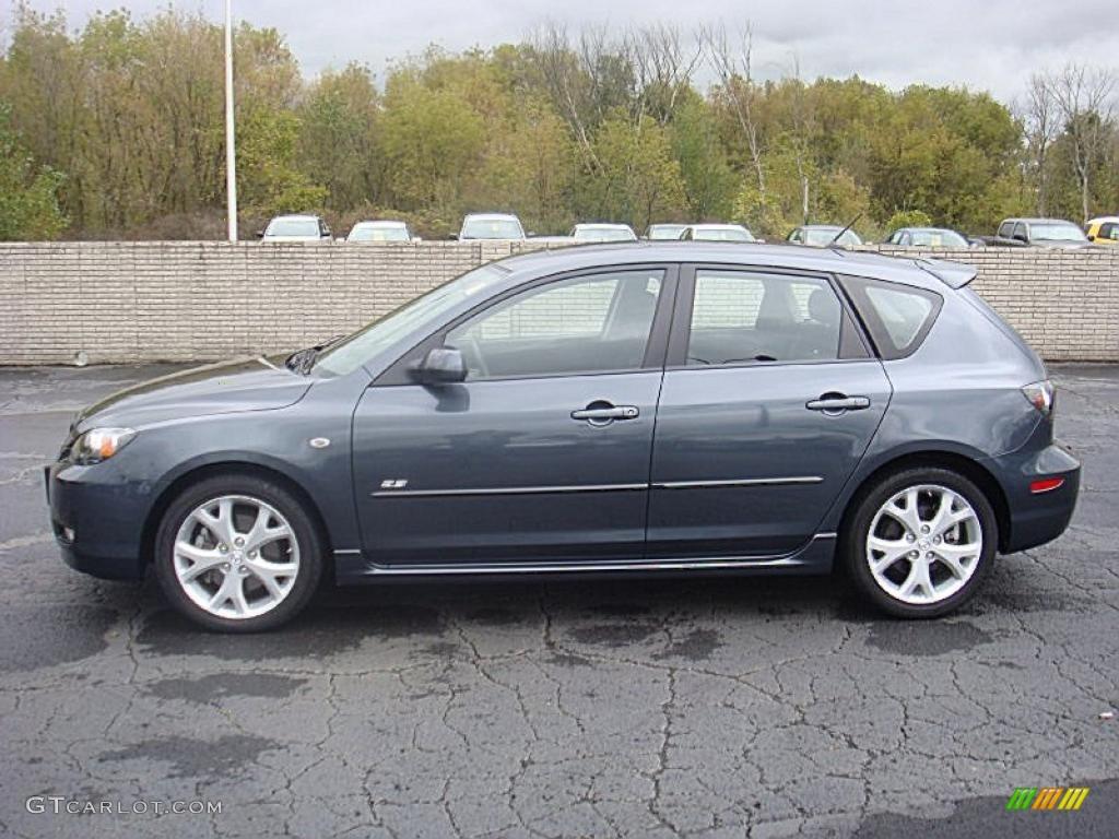2008 metropolitan gray mica mazda mazda3 s touring hatchback 37585181 car. Black Bedroom Furniture Sets. Home Design Ideas