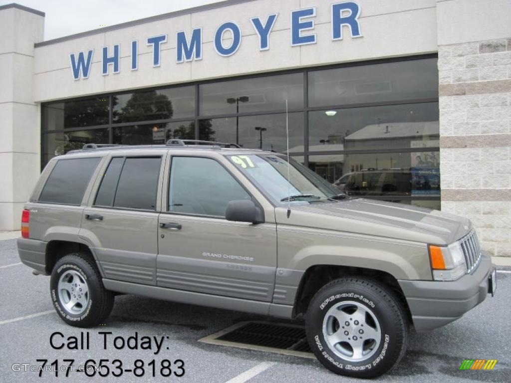 1997 char gold satin glow jeep grand cherokee laredo 4x4 #37585013