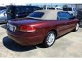 2002 Dark Garnet Red Pearl Chrysler Sebring LXi Convertible  photo #3