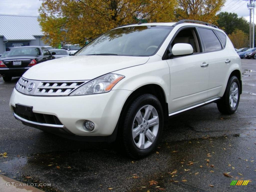 2007 Murano SL AWD - Glacier Pearl White / Cafe Latte photo #1